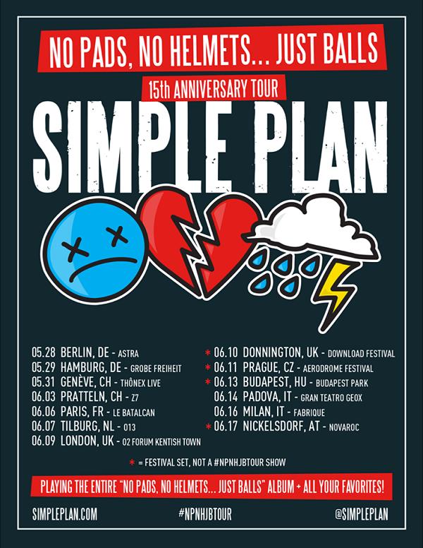 simple plan european tour